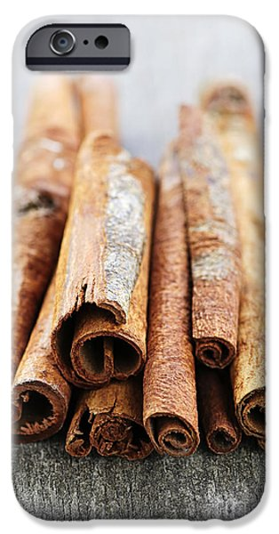 Cinnamon sticks iPhone Case by Elena Elisseeva