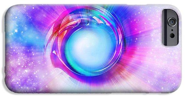 Spectrum iPhone Cases - Circle Eye  iPhone Case by Setsiri Silapasuwanchai