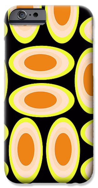 Louisa iPhone Cases - Circles iPhone Case by Louisa Knight