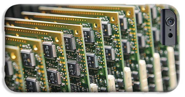 Electronic iPhone Cases - Circuit Board Production iPhone Case by Ria Novosti