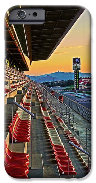 Colorful Photos iPhone Cases - Circuit de Catalunya - Barcelona  iPhone Case by Juergen Weiss