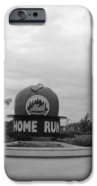 CITI FIELD in BLACK AND WHITE iPhone Case by ROB HANS