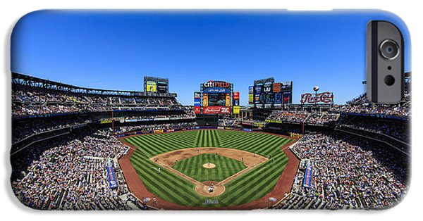 Pastimes iPhone Cases - Citifield iPhone Case by Rick Berk
