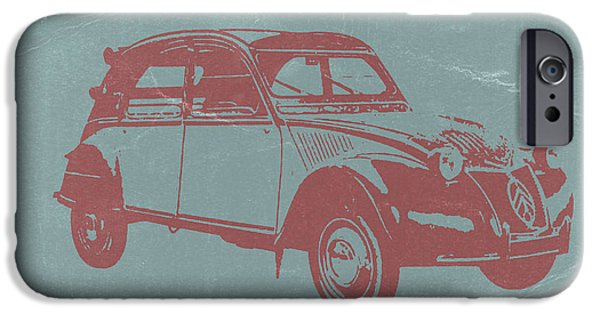 Old Cars iPhone Cases - Citroen 2CV iPhone Case by Naxart Studio