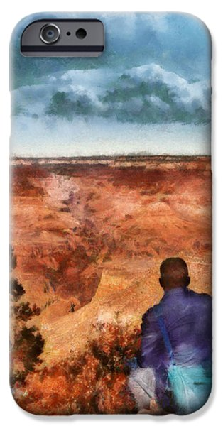 City - Arizona - Grand Canyon - The Vista iPhone Case by Mike Savad