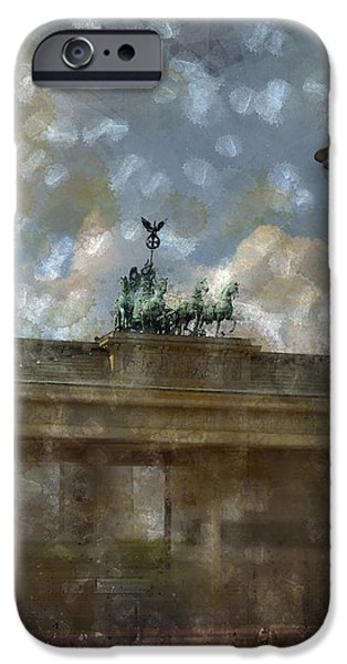 City-Art BERLIN Brandenburger Tor II iPhone Case by Melanie Viola