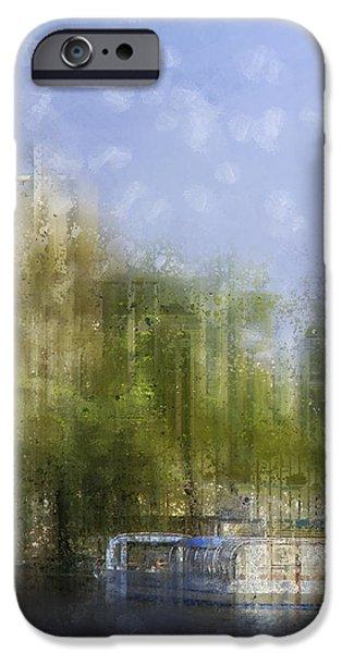 City-Art BERLIN River Spree iPhone Case by Melanie Viola