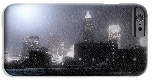 Winter Light iPhone Cases - City Bathed In Winter iPhone Case by Kenneth Krolikowski