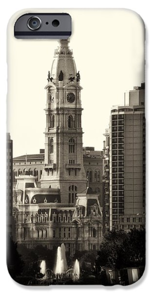 Franklin iPhone Cases - City Hall from the Parkway - Philadelphia iPhone Case by Bill Cannon