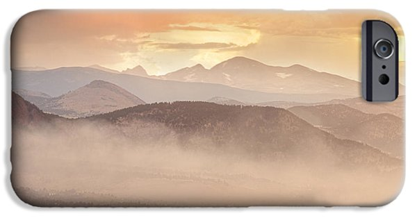 Epic iPhone Cases - City Of Boulder Colorado Smoky OverLook  iPhone Case by James BO  Insogna