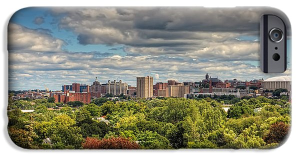 Carrier iPhone Cases - City Skyline iPhone Case by Everet Regal