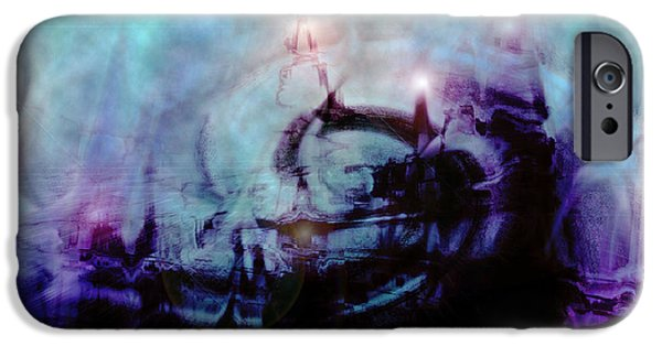 Dream Scape iPhone Cases - Cityscapes iPhone Case by Linda Sannuti