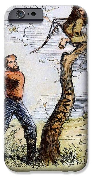 CIVIL WAR CARTOON, 1862 iPhone Case by Granger