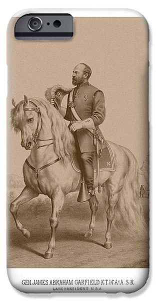 The Horse iPhone Cases - Civil War General James Garfield iPhone Case by War Is Hell Store