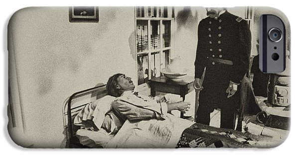 Confederate Hospital iPhone Cases - Civil War Hospital iPhone Case by Bill Cannon