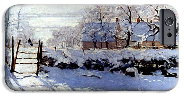 Snow iPhone Cases - Claude Monet: The Magpie iPhone Case by Granger