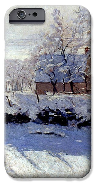 CLAUDE MONET: THE MAGPIE iPhone Case by Granger
