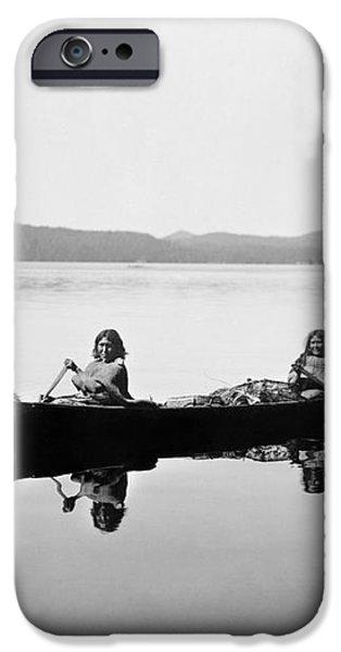 CLAYOQUOT CANOE, c1910 iPhone Case by Granger
