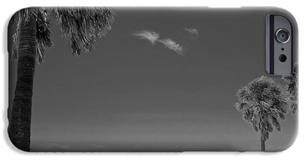 Blackandwhite Photographs iPhone Cases - Clearwater Beach BW iPhone Case by Adam Romanowicz