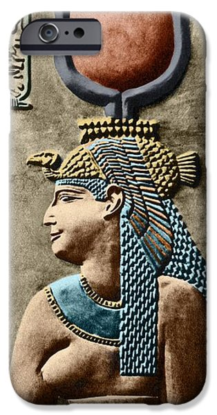 Hathor iPhone Cases - Cleopatra Vii iPhone Case by Sheila Terry