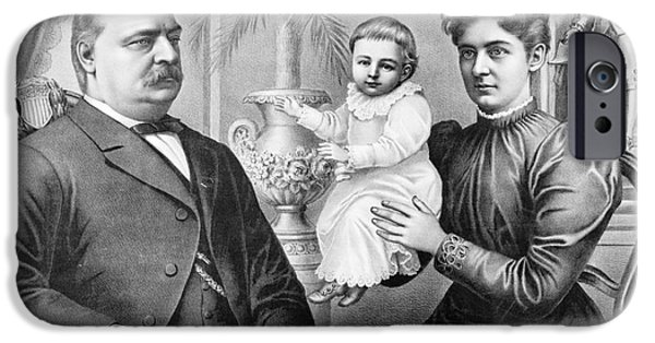 First Family iPhone Cases - CLEVELAND FAMILY, c1893 iPhone Case by Granger