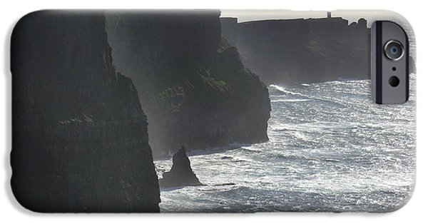 Landscape iPhone Cases - Cliffs of Moher 1 iPhone Case by Mike McGlothlen