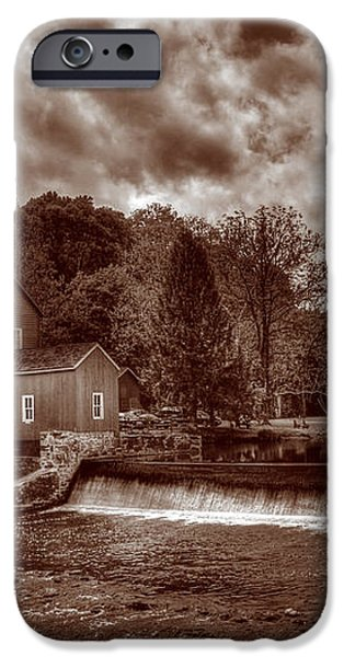 Clinton Red Mill House Sepia iPhone Case by Lee Dos Santos
