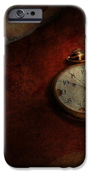 Clock - Time waits for nothing  iPhone Case by Mike Savad