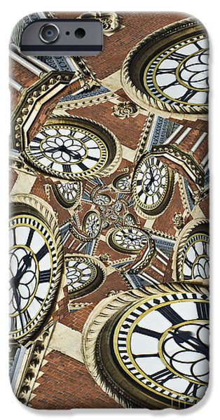 Abstract Digital Art iPhone Cases - Clocked iPhone Case by Clare Bambers
