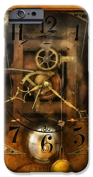 Chronometer iPhone Cases - Clockmaker - A sharp looking time piece iPhone Case by Mike Savad