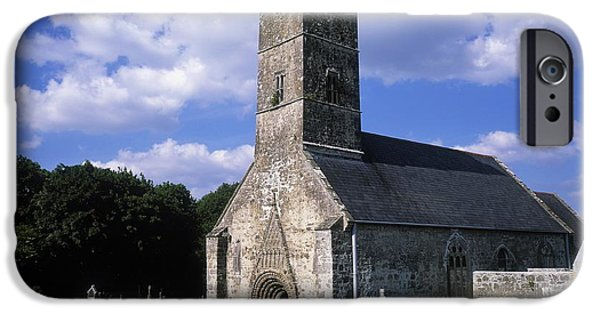 Burying Ground iPhone Cases - Clonfert Cathedral, Clonfert, Co iPhone Case by The Irish Image Collection