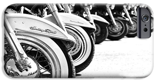 Stainless Steel iPhone Cases - Close up on a motorbike wheel  iPhone Case by Anna Omelchenko