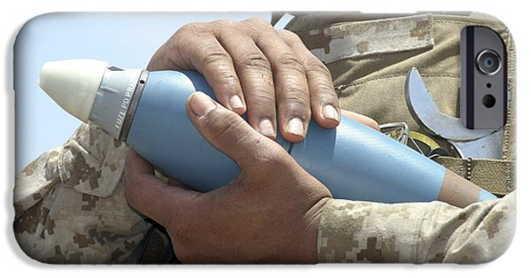 Cradling iPhone Cases - Close-up View Of A Soldier Cradling iPhone Case by Stocktrek Images