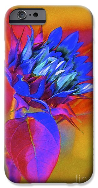 Colorful Sunflower iPhone Cases - Closing My Eyes iPhone Case by Gwyn Newcombe