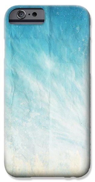 cloud and blue sky on old grunge paper iPhone Case by Setsiri Silapasuwanchai