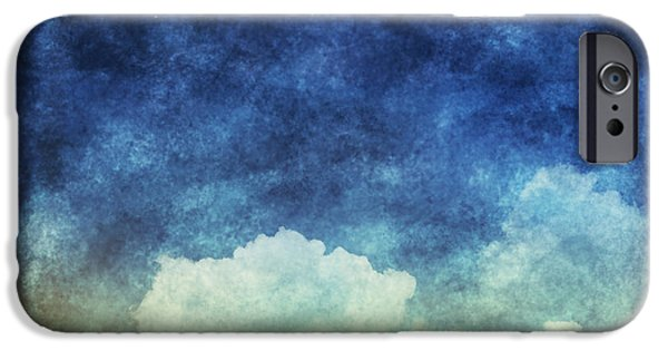 Dark Skies Pastels iPhone Cases - Cloud And Sky At Night iPhone Case by Setsiri Silapasuwanchai