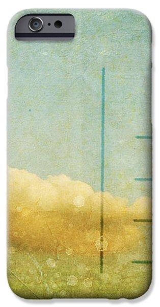 cloud and sky on postcard iPhone Case by Setsiri Silapasuwanchai