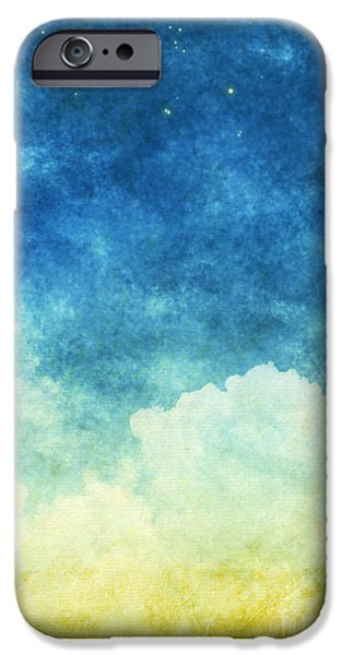 Dark Skies Pastels iPhone Cases - Cloud And Sky iPhone Case by Setsiri Silapasuwanchai