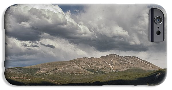 Arapaho iPhone Cases - Cloud over Breckenridge Colorado iPhone Case by Randall Nyhof