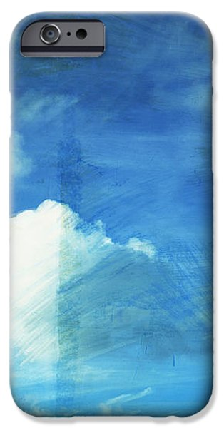 cloud painting iPhone Case by Setsiri Silapasuwanchai