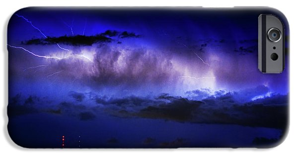 Striking Photography iPhone Cases - Cloud to Cloud Lightning Boulder County Colorado iPhone Case by James BO  Insogna