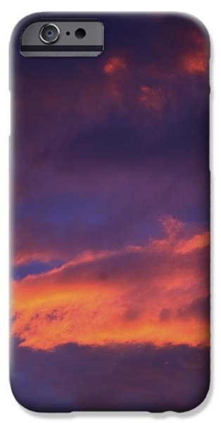 Eternal Inspirational iPhone Cases - Clouds In Sky With Pink Glow iPhone Case by Richard Wear