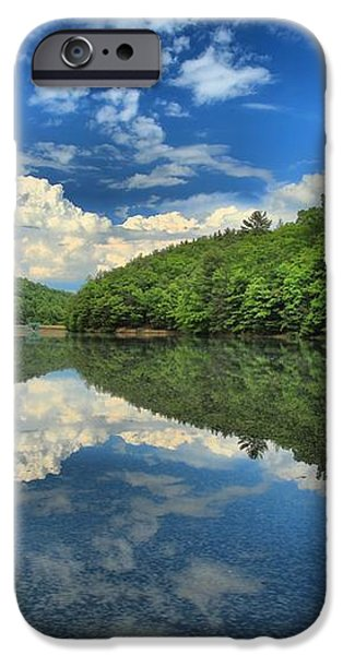 Clouds In The Lake iPhone Case by Adam Jewell