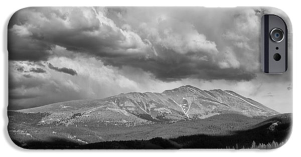 Arapaho iPhone Cases - Clouds over Breckenridge Colorado iPhone Case by Randall Nyhof