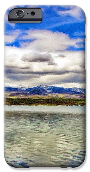 Clouds over Distant Mountains iPhone Case by Jeff Kolker