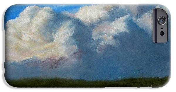 Sesuit Meadow iPhone Cases - Clouds Over the Meadow iPhone Case by Jack Skinner