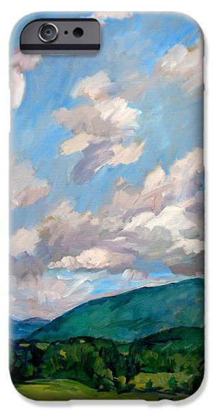 Recently Sold -  - Tree Art Print iPhone Cases - Cloudy Day Berkshires iPhone Case by Thor Wickstrom