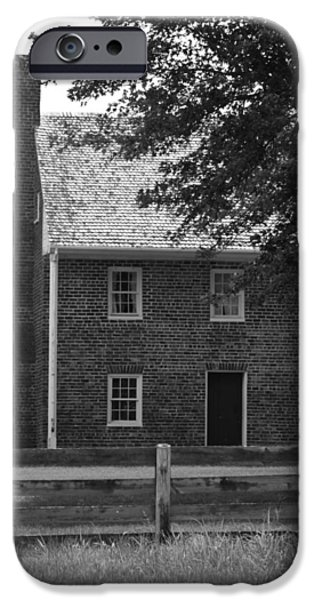 Clover Hill Tavern Guesthouse BW iPhone Case by Teresa Mucha