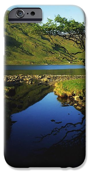 Co Galway, Kylemore Lough, Benbaun iPhone Case by The Irish Image Collection