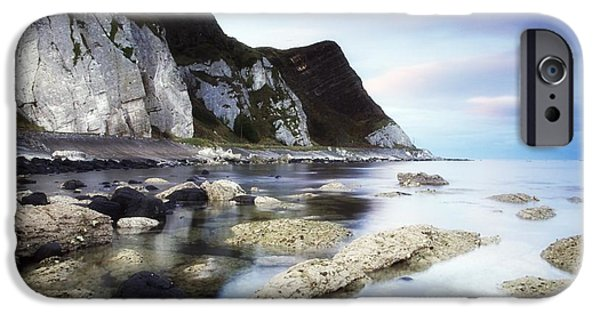 Mystic Setting Photographs iPhone Cases - Coast Between Carnlough & Waterfoot, Co iPhone Case by The Irish Image Collection